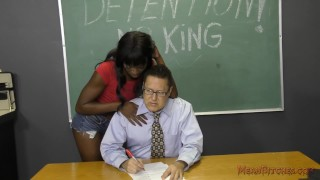 Preview 2 of Black Student Seduces Her Teacher Into Becoming Her Slave- Ana Foxxx Femdom