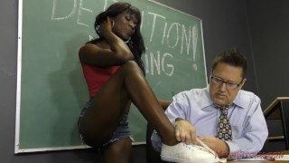 Black Student Seduces Her Teacher Into Becoming Her Slave- Ana Foxxx Femdom  ass worship ana foxxx face sitting ebony femdom black mom blowjob meanbitches kink interracial school foot fetish mother foot worship natural tits ass licking