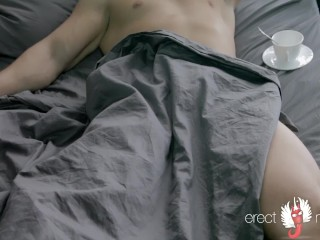 How does night male erection by naked men in bed happen?
