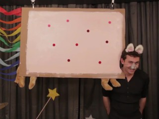 "James Deen as ""Nyan Cat"""
