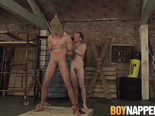 Sean Taylor & Billy Rock have kinky bondage sex in a dungeon