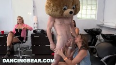 DANCING BEAR - CFNM Hair Salon Dick Party For Them Bitches!