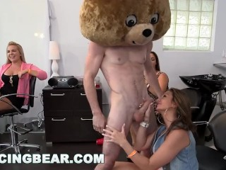 DANCING BEAR – CFNM Hair Salon Dick Party For Them Bitches!