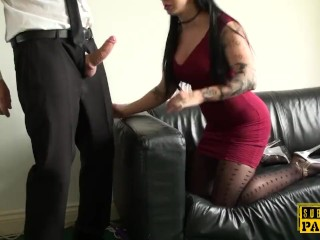 Young british sub analized during rough sex
