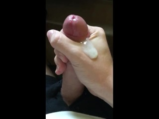 A Thick White Cum Load In The Morning