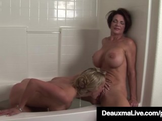texas mom deauxma licks a pussy with lesbo tanya tate!
