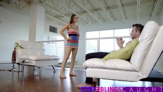 StepSiblingsCaught - Convincing Her Step-bro With Ass & Tits  point of view big cock blowjob cumshot young hardcore stepsiblingscaught brunette shaved stepsis doggystyle nice ass step brother jessie lynne natural tits step sister