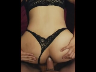 Fucking Stacy in the ass bareback