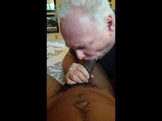 "Older white bottom sucks his young black 11"" boyfriend 2"