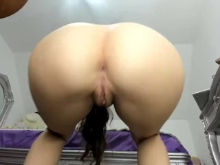 Doing naked squats, my ass in your face!