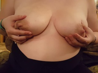 Draining my heavy boobs