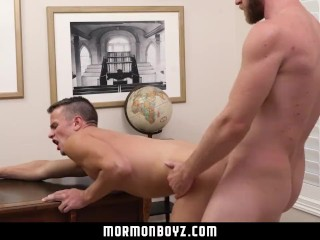 MormonBoyz-Young Missionary Boy Barebacked by Bearded Priest