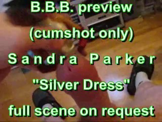 BBB preview: Sandra Parker silver outfit (cumshot only)