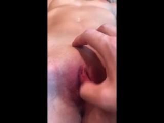 Fingering tight pussy