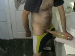 Fucking my Fleshlight in Bathroom