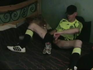 Jerk-Off in Adidas Soccer Gear