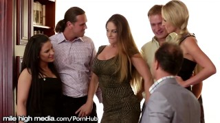 Preview 1 of European Swingers Host a Fuck Fest Orgy!