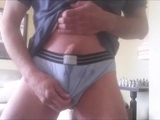 Cum in my blue undies