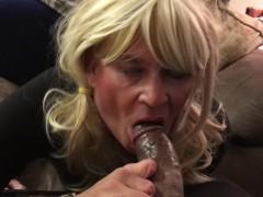 Sensual blow job on HUGE BBC