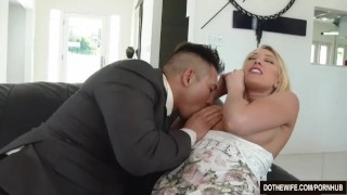 Swinger Wife Kagney Linn Karter Bangs Another Guy in Front of Her Husband  hardcore housewife pussy licking kagney linn karter vaginal sex big tits cuckold couple wife dothewife blowjob blonde