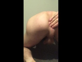 Playing with my ass and cumming