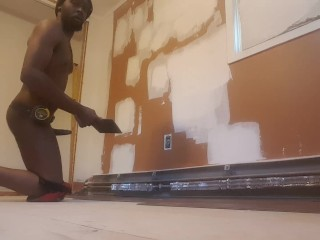 Empty house why not work naked