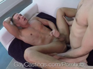 GayCastings Aston Springs fucked on film by casting agent