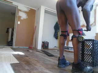 Empty house working naked 2