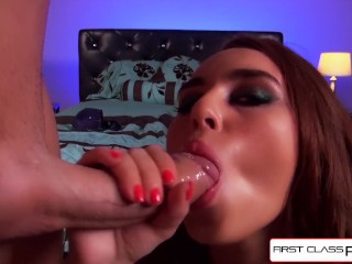 First Class POV - Kiki Vidis knows how to work that slutty mouth