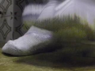 White Socks on 17 size feet