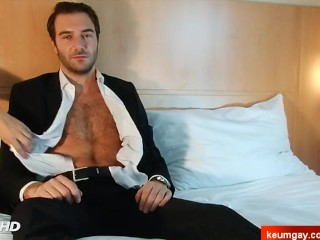 Stephane Handsome hetero male's big cock gets wanked by me.