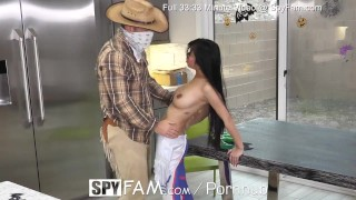 Spyfam Overwatch halloween disguise fuck with step sister Jade Kush  johnny castle big tits hairy pussy overwatch creampie spyfam hd asian blowjob hardcore 60fps sex jade kush step sister halloween