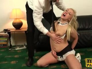 British sub cockrides rough dom maid lingerie