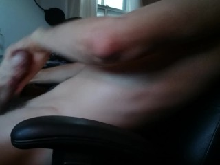 fit guy gets hot cum on his belly