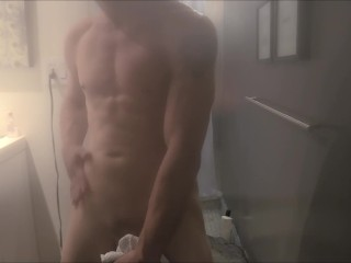 Male Solo Shower Scene Sexy Stud With Nice Cock