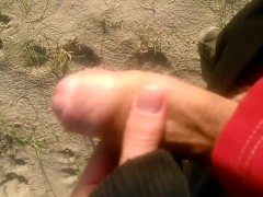 very open public place outdoor beach cum caught and didn't care oops