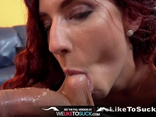 weliketosuck - deep throat of shona river and gets her pussy fucked hard