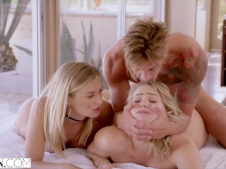 VIXEN Mia Malkova and Natalia Starr share a HUGE cock!!