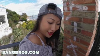 BANGBROS - Asian Babe Sharon Lee Takes a FAT Dick Up Her BIG ASS in Public  big ass bang bros bangbros outdoors outside french booty asian oriental public hardcore public bang butt anal big butt pb13662 publicbang
