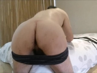 Very hard self flogging, enduring straight guy loves being whipped to pain