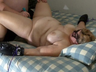 big tit bbw gets tied, tickled and fucked until she squirts