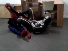 finned skeleton verses spiderman