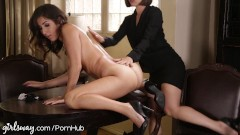 April ONeil Punished by Lesbian Boss for Slutty Dress