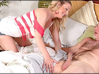 BFF sees Dads big cock while he naps
