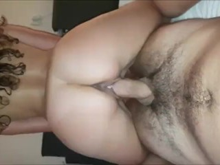 Big ass babe cant get enough of big dick ride on her tight little pussy