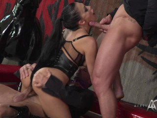 Aletta Ocean - Black Leadher Double Pleasure - alettAOceanLive