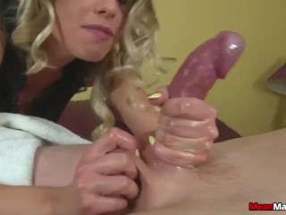 Hot blonde babe cock treatment