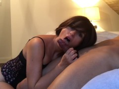 My ass rides hard dick and huge cumshot in my pussy