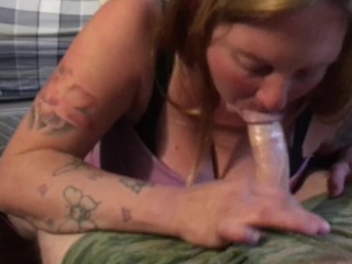 New whore sucking cock bitch stay working with dick in her mouth #100 proof
