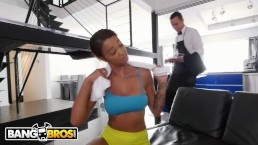 BANGBROS - Ebony Harley Dean Making Butler's Day With Her Big Tits